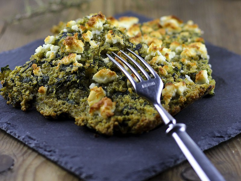 Spinach, Feta and Kale Pie